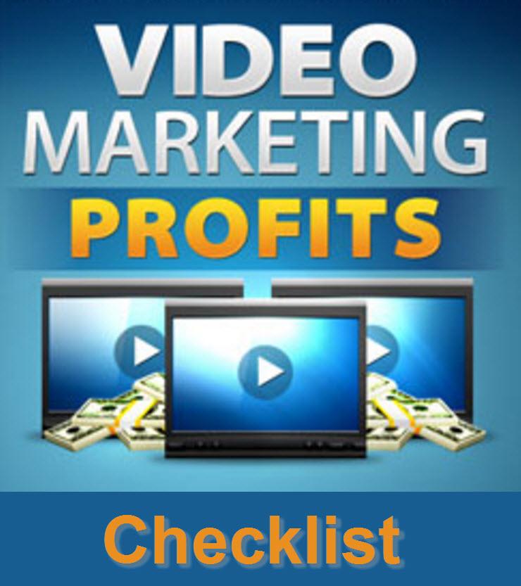 Video Marketing Profits Checklist