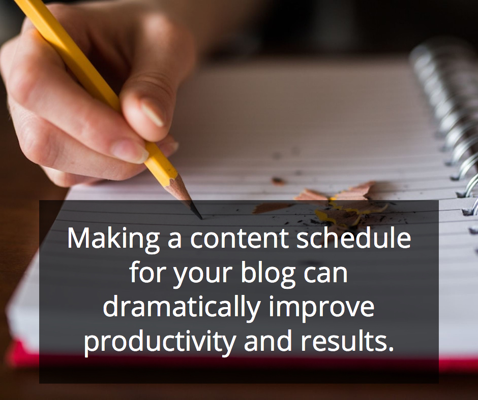 Making a constant schedule for your blog can dramatically improve productivity and results